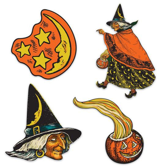 Witch, Moon & Pumpkin Cutouts