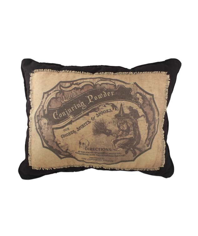 Witch's Conjuring Powder Apothecary Pillow - Bethany Lowe Halloween