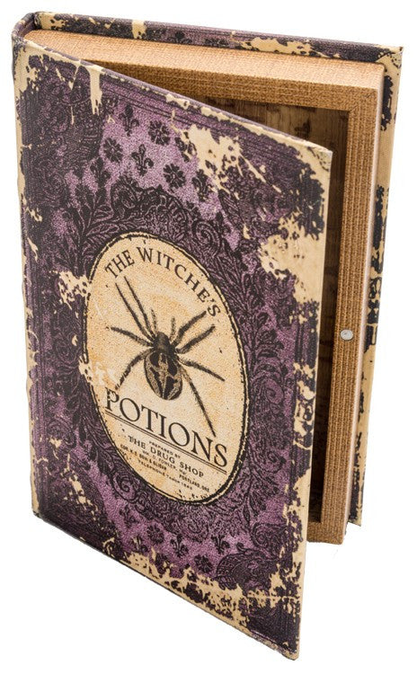 Witch's Potions Book Box - Halloween Prop
