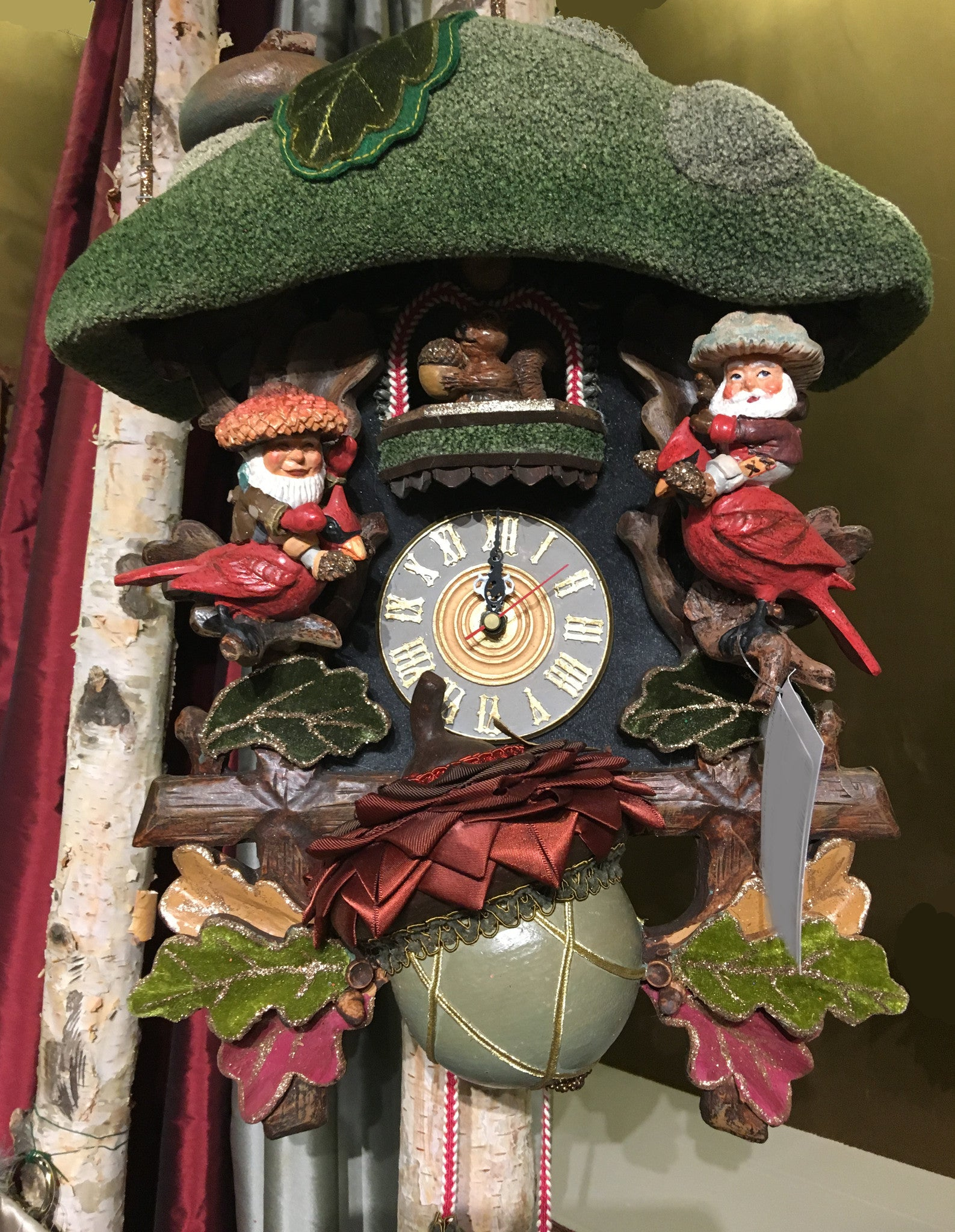 Woodlanders Cuckoo Clock With Woodland Gnomes Katherines