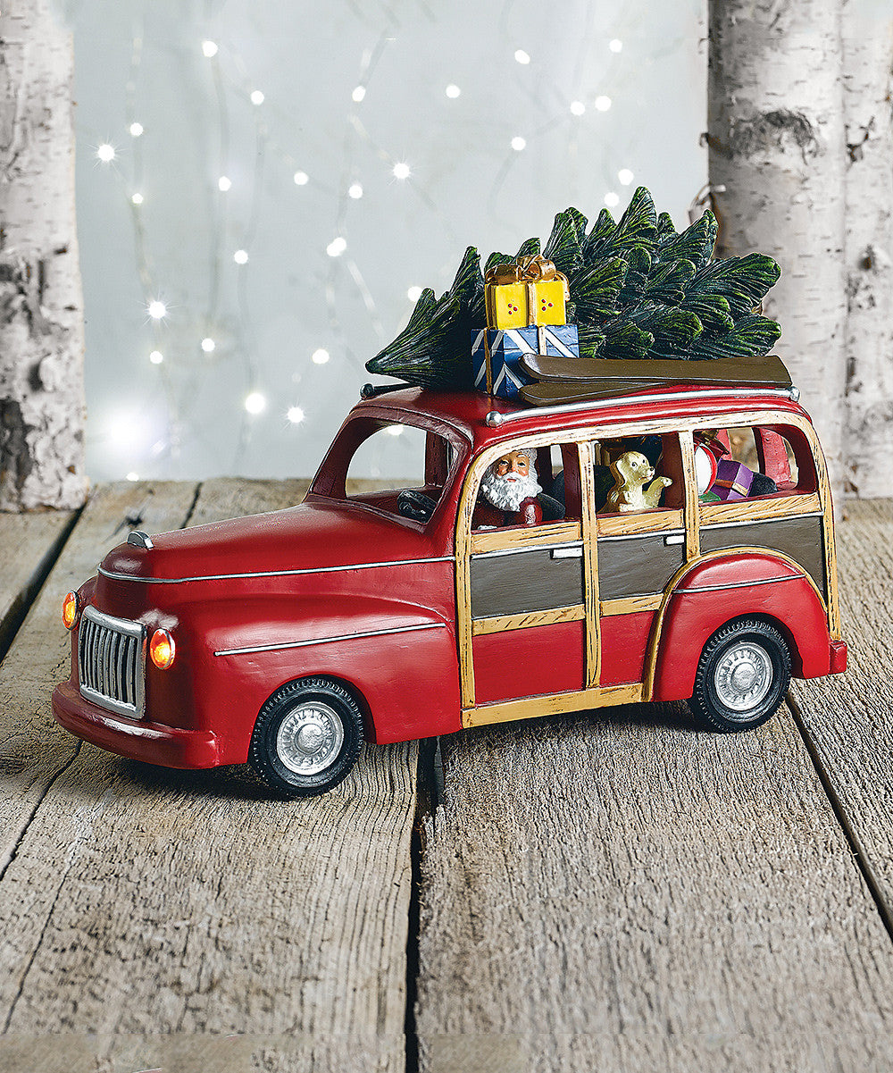 Woody Station Wagon with Santa | Christmas Music Box