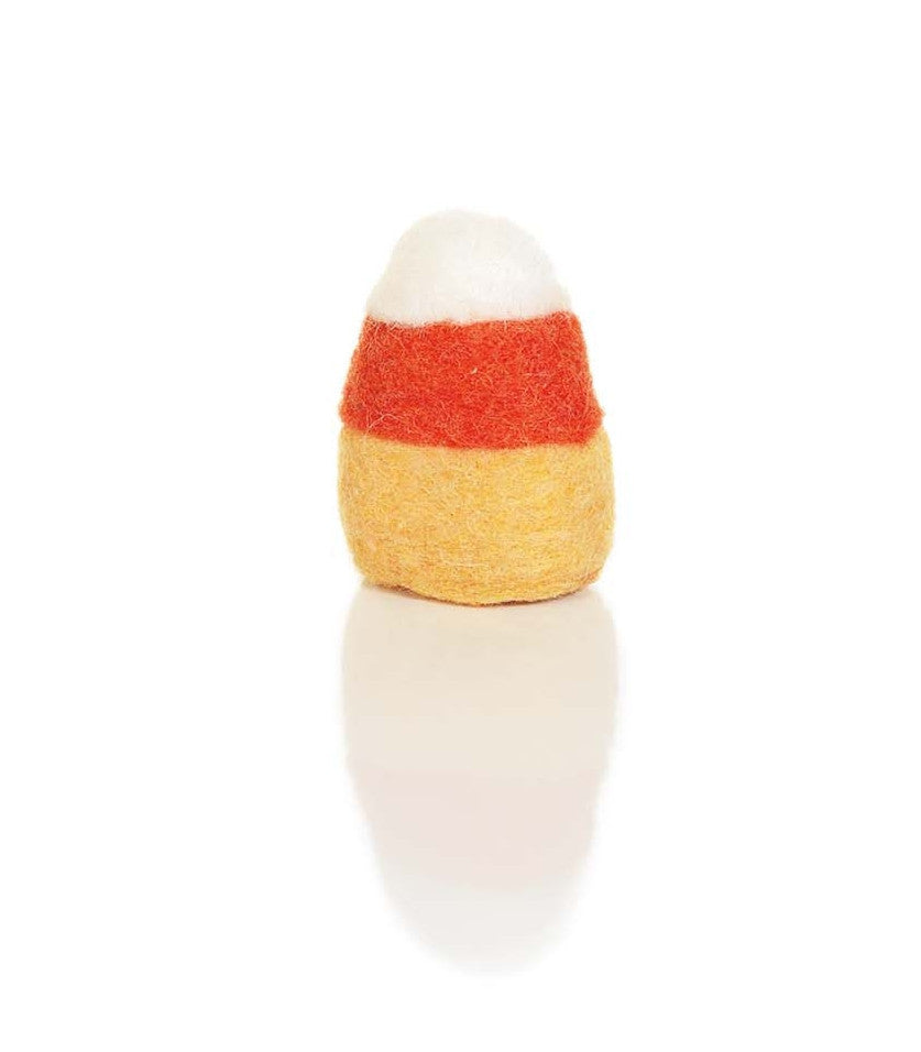 Set of 6 Wool Candy Corn Bowl Fillers