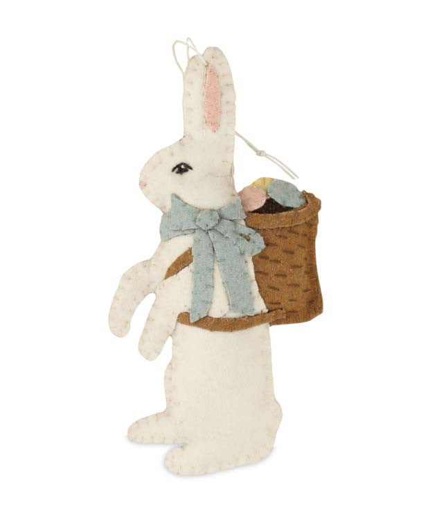 Wool Easter Bunny Ornament