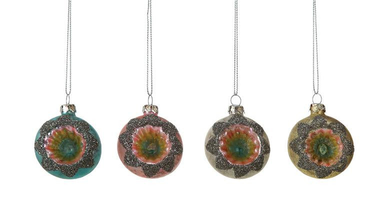Mercury Glass Witches Eye Ornaments