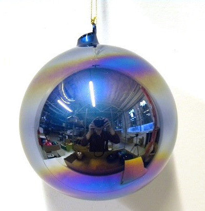 Jim Marvin Blue Pearl Glass Ornaments