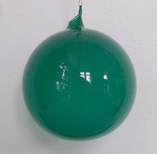 Jim Marvin Teal Green Bubblegum Glass Ornaments