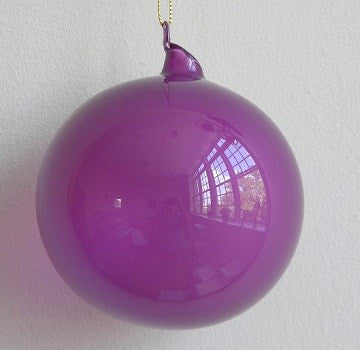 Jim Marvin Purple Bubblegum Glass Ornaments