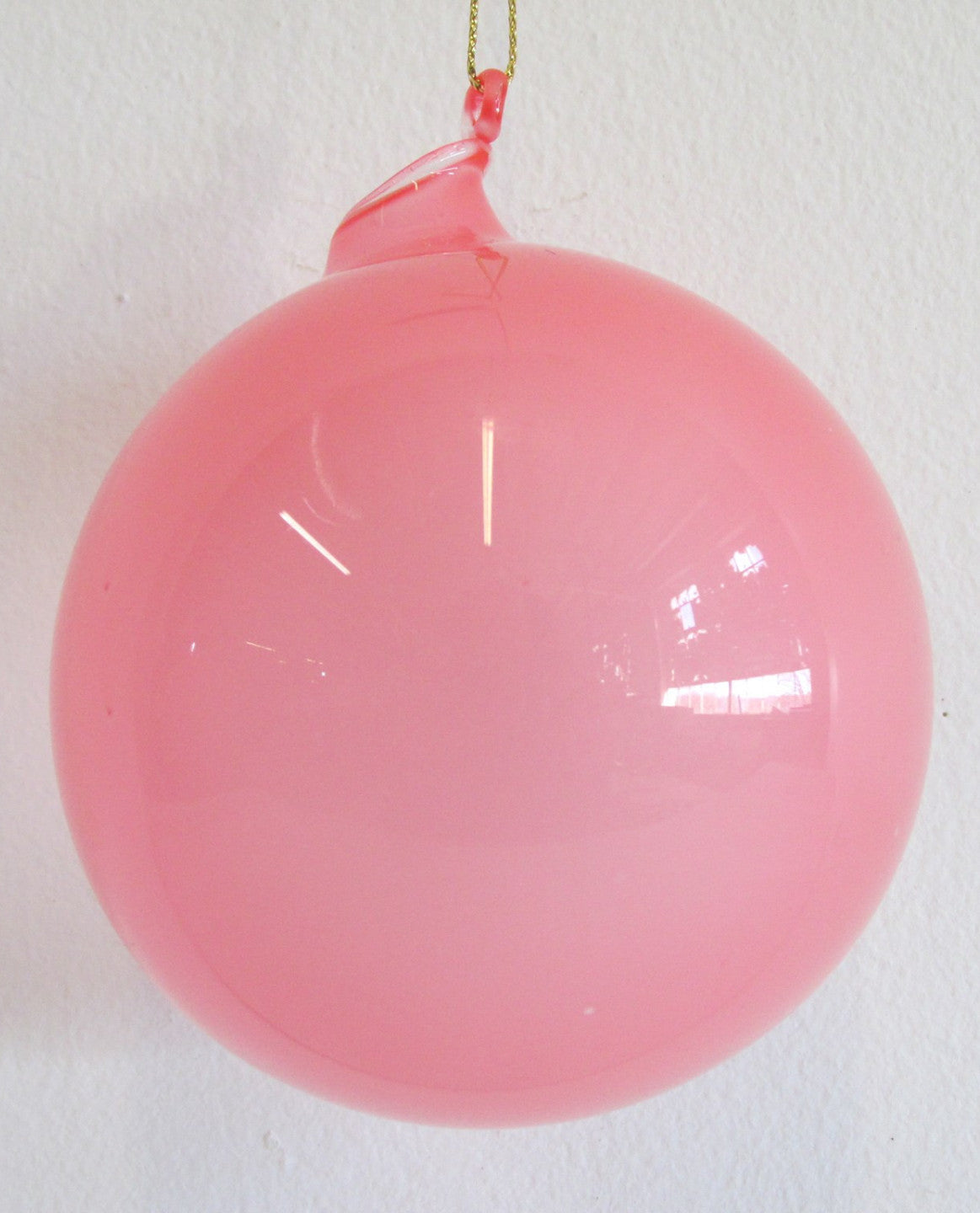 Jim Marvin Pink Bubblegum Glass Ornaments