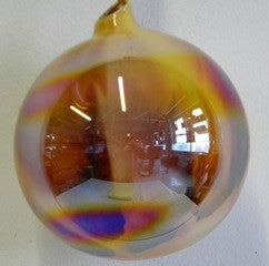 Jim Marvin Marbled Iridescent Glass Ornaments