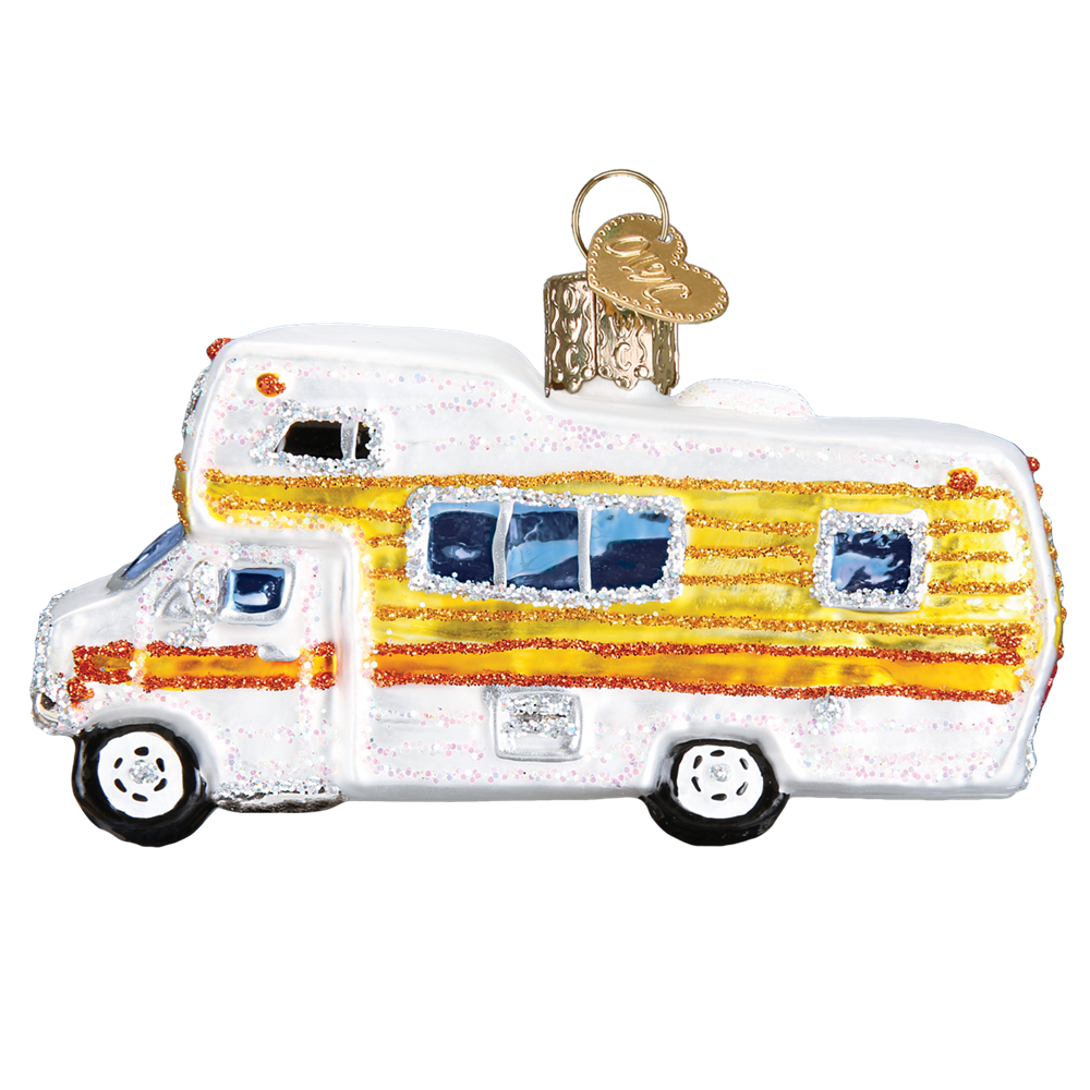 Vintage Yellow Motorhome Ornament