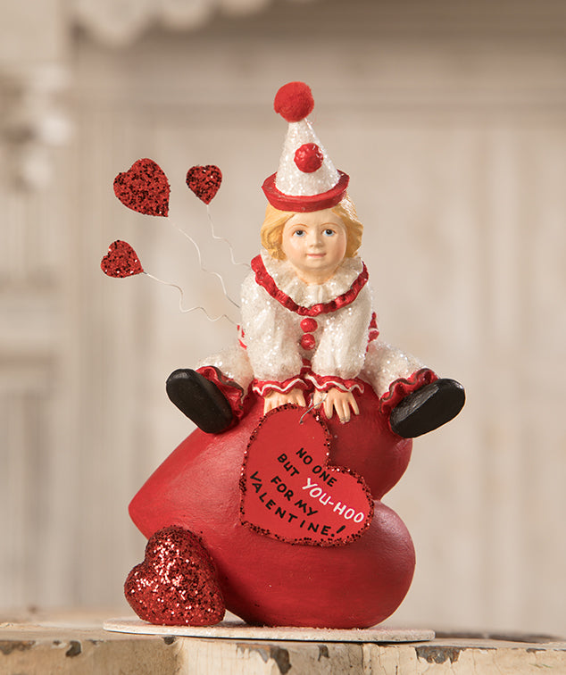 Yoo Hoo Valentine Clown Figurine by Bethany Lowe