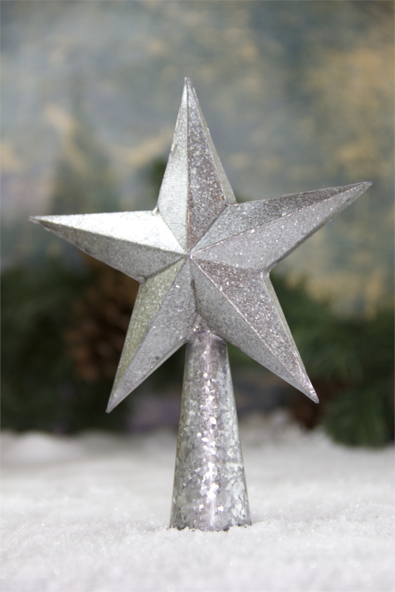 Zinc Christmas Tree Star