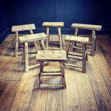 Antique Elm Stools