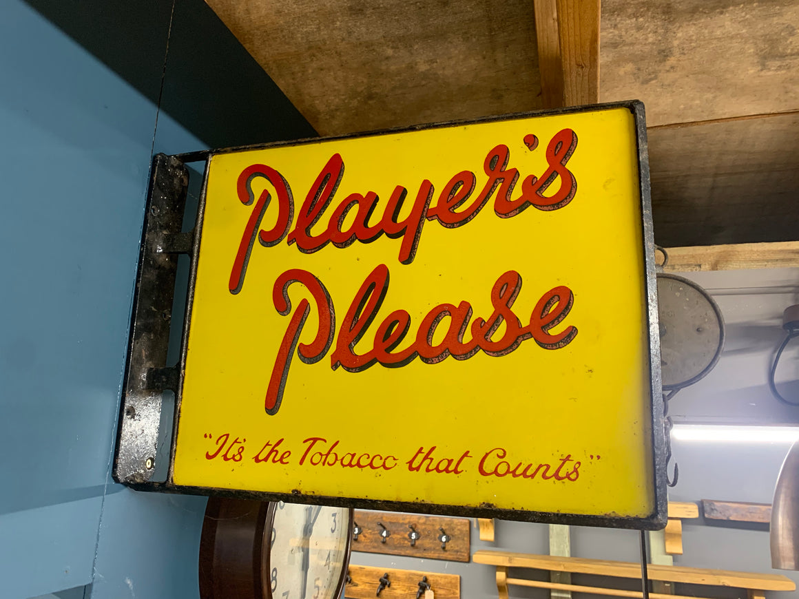 Enamel Players Tobacco Advertising sign