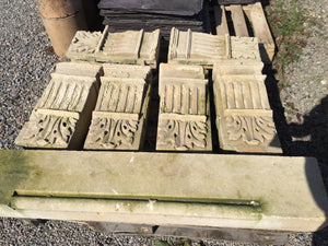 Ornate Carved Decorative Stone Corbels