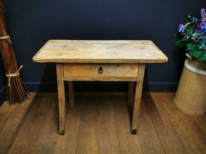 Antique Elm Console Table
