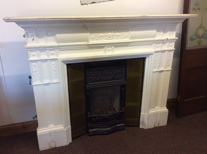 Victorian Cast Iron Coalbrookdale Fireplace