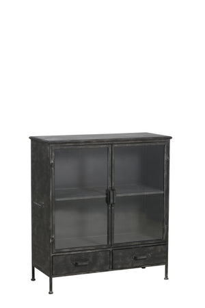 Glazed Industrial Cabinet