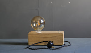 Handmade Wooden Block Lamp