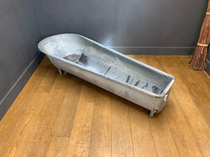 Vintage Zinc Bath Tub / Planter