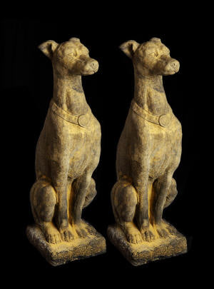 Pair of Italian Hounds Statues