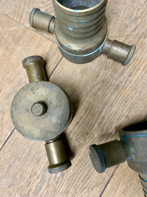 Vintage Fire Hydrant with Couplings and Nozzles