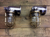 Brass and Aluminium Nautical Wall Mounted Lighting