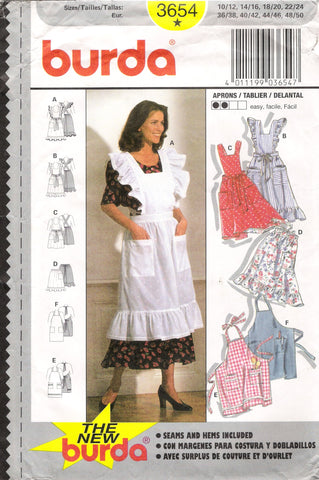 Burda 3654 Aprons -  - Smiths Depot Sewing Pattern Superstore