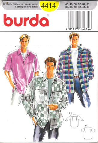 Burda 4414 Men's Shirts
