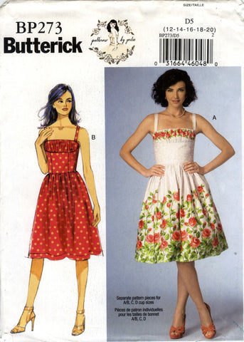 Butterick 0273 Misses' Dress - D5 (12-14-16-18-20) - Smiths Depot Sewing Pattern Superstore