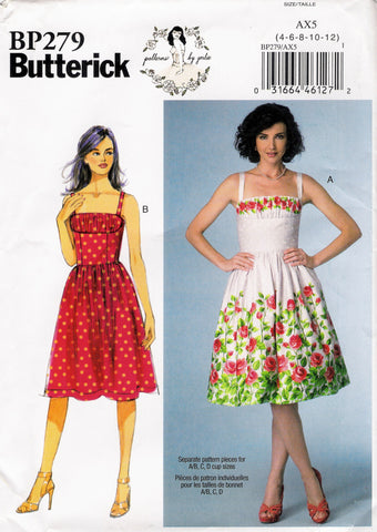 Butterick 0279 Misses' Dress - AX5 (4-6-8-10-12) - Smiths Depot Sewing Pattern Superstore