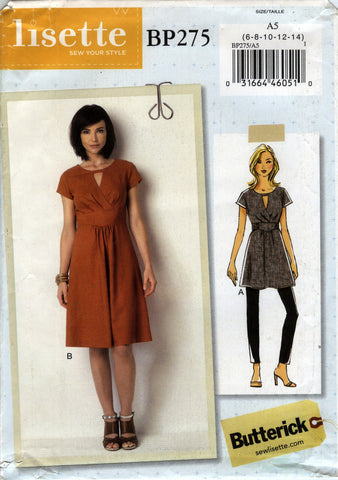 Butterick 0275 Misses' Tunic and Dress - A5 (6-8-10-12-14) - Smiths Depot Sewing Pattern Superstore  - 1