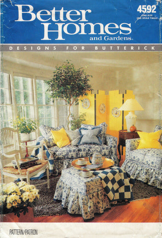 Butterick 4592 Furniture Cover -  - Smiths Depot Sewing Pattern Superstore
