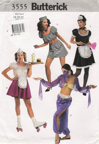 Butterick 3555 Misses' Costumes - (18-20-22) - Smiths Depot Sewing Pattern Superstore