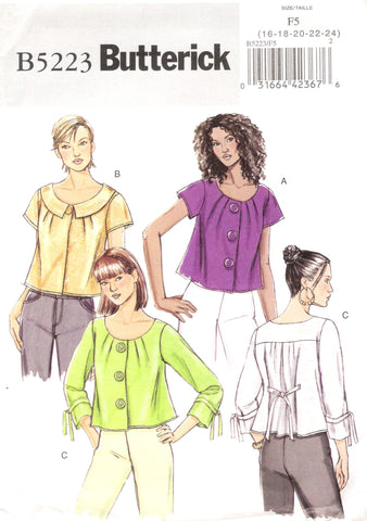Butterick 5223 Misses' Jacket - F5 (16-18-20-22-24) - Smiths Depot Sewing Pattern Superstore