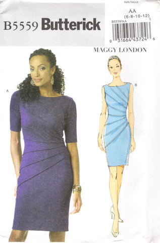 Butterick 5559 Misses' Dress - AA (6-8-10-12) - Smiths Depot Sewing Pattern Superstore