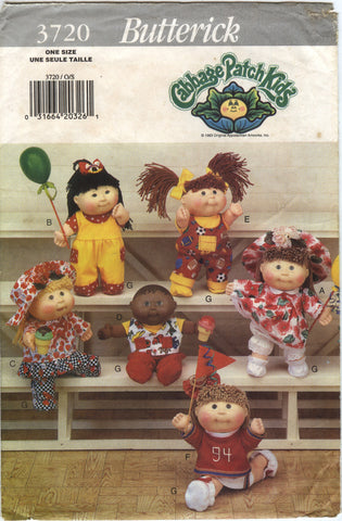 "Butterik 3720 Cabbage Patch Kids 10"" and 10½"" Clothes -  - Smiths Depot Sewing Pattern Superstore"