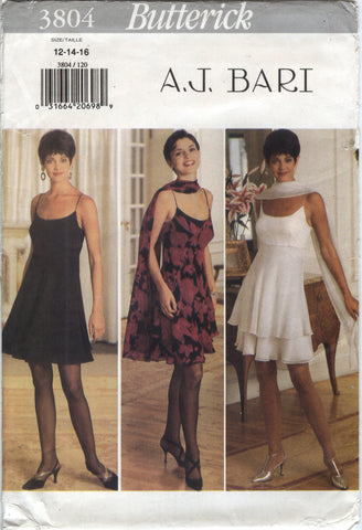 Butterick 3804 Misses' Dress and Stole - 12-14-16 - Smiths Depot Sewing Pattern Superstore