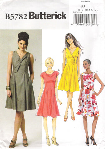 Butterick 5782 Misses' Dress - A5 (6-8-10-12-14) - Smiths Depot Sewing Pattern Superstore