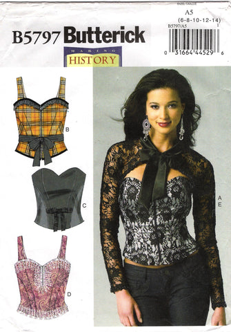 Butterick 5797 Misses' Corset, Sash and Shrug - 6-8-10-12-14 - Smiths Depot Sewing Pattern Superstore