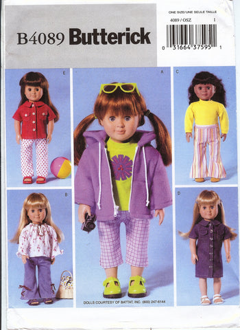"Butterick 4089 18"" Doll Clothes"