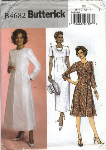 Butterick 4682 Misses'/Misses' Petite Duster and Dress - 8-10-12-14 - Smiths Depot Sewing Pattern Superstore  - 2