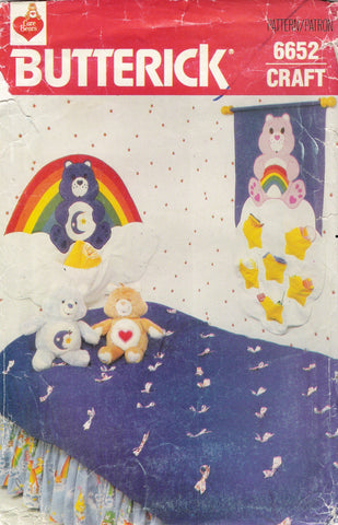 Butterick 6652 Care Bear Room Decoration Essentials -  - Smiths Depot Sewing Pattern Superstore