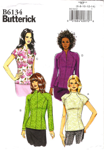 Butterick 6134 Misses' Top - 6-8-10-12-14 - Smiths Depot Sewing Pattern Superstore