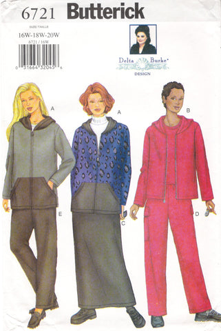 Butterick 6721 Women's/Women's Petite Jacket, Skirt and Pants - (16W-18W-20W) - Smiths Depot Sewing Pattern Superstore