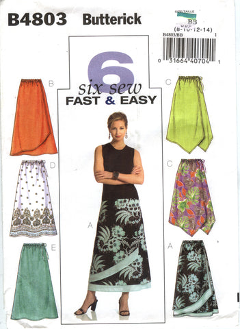 Butterick 4803 Misses'/Misses' Petite Skirt - BB 8-10-12-14 - Smiths Depot Sewing Pattern Superstore