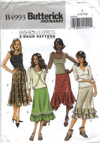Butterick 4993 Misses'/Misses' Petite Skirt - Z 16-18-20-22 - Smiths Depot Sewing Pattern Superstore