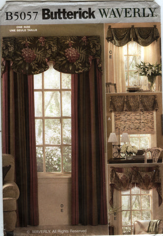 Butterick 5057 Window Treatments