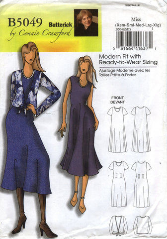 Butterick 5049 Misses'/Women's Dress and Blouse
