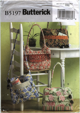Butterick 5197 Handbags and Purses